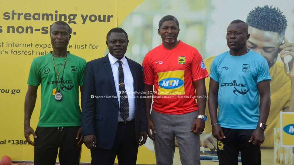 PICTURES: Maxwell Konadu supervises first Kotoko training session after unveiling to players at training grounds