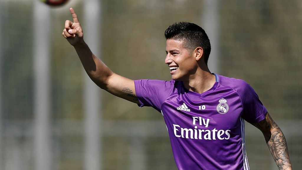 James Rodríguez back in contention for Real Madrid Selection as the Colombian completes second successive training on Friday
