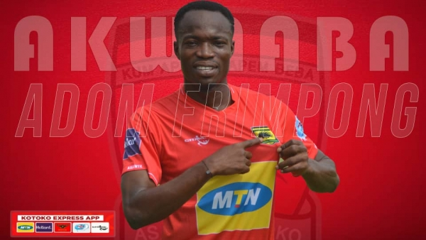 Adom Frimpong joins Asante Kotoko after completing two weeks of successful trails