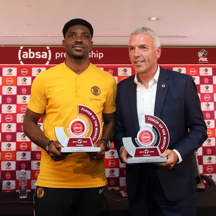 Kaizer Chiefs praise Nigerian keeper Daniel Akpeyi and manager Ernst Middendorp for their 2019 ABSA Premiership contributions