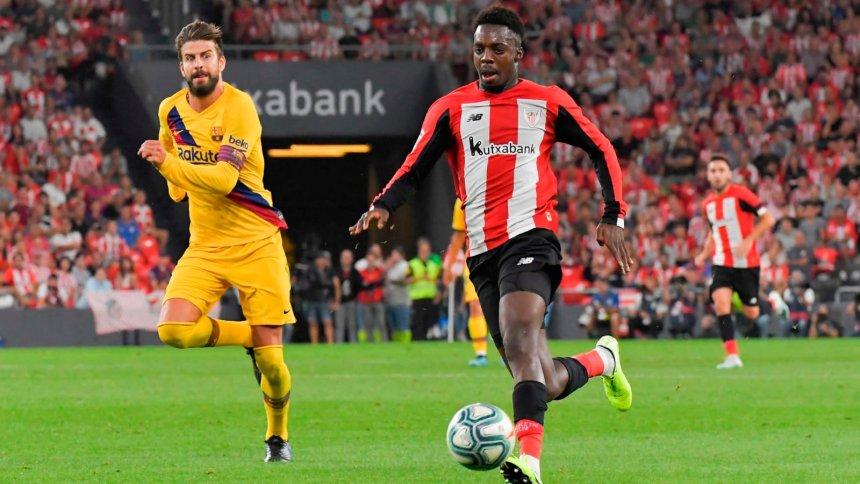 Inaki Williams stoppage time strike against Barcelona fires Athletico Bilbao into Copa del Rey semis