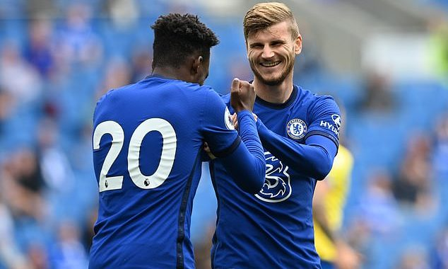 Chelsea drew 1-1 with Brighton as Timo Werner scores debut goal in Pre-season friendly