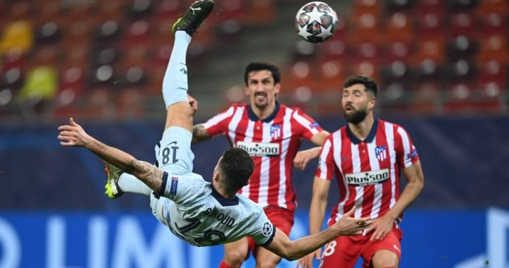 Atletico Madrid 0-1 Chelsea: Giroud's overhead kick secures vital Champions League away win in Bucharest