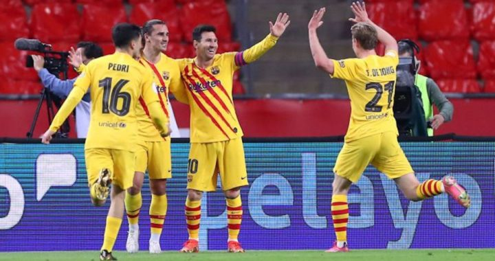 Athletic Bilbao 0-4 Barcelona: second half goals from Griezmann, De Jong and Messi hand Blaugrana 31st Spanish Copa del Rey title