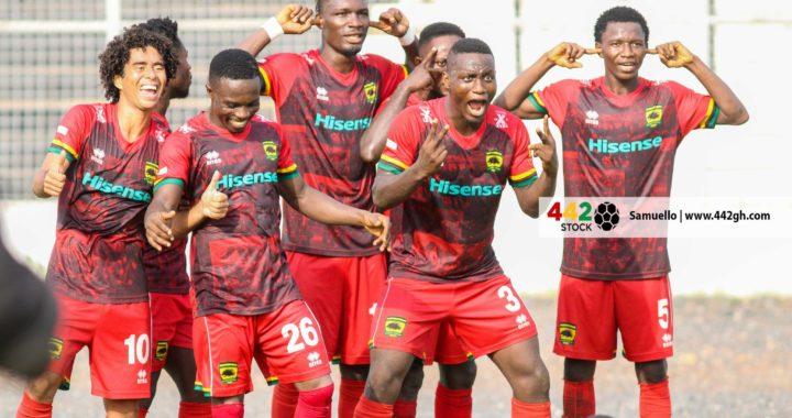 Asante Kotoko 2-0 Berekum Chelsea: Andy Kumi and Godfred Asiamah strikes send Porcupine Warriors to top of GPL table