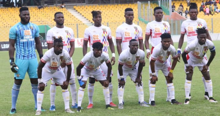 Hearts of Oak back on top of table after 2-1 beating of Legon Cities as Obeng Junior and Frederick Botchway net in victory