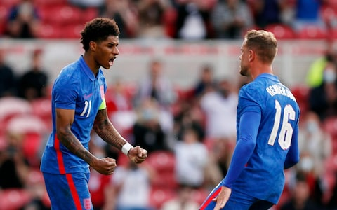 Marcus Rashford penalty sink Romania at Riverside as England head into Euro 2020 on back of six successive victories