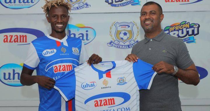 Azam FC complete signing of former Gor Mahia captain Kenneth Muguna on 2-year deal