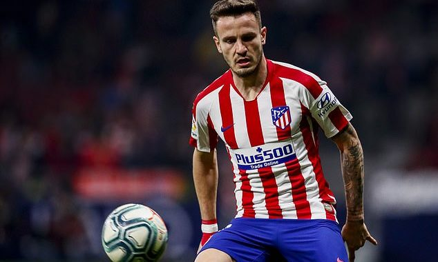 SAUL NIGUEZ: Chelsea close in on midfielder after agreeing £3.4million loan deal with Atletico Madrid ahead transfer deadline day