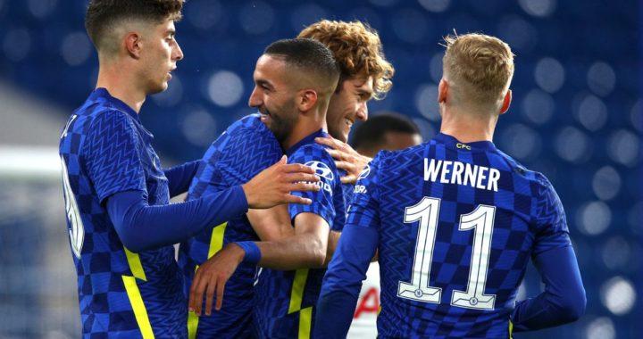 Hakim Ziyech grabs brace in Chelsea 2-2 Mind Series drawn game against Tottenham