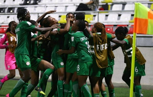 Nigeria thrash Central Africa Republic 7-0 in 2022 FIFA U-20 Women's World Cup qualifiers as Falconets hold huge advantage in second round first leg